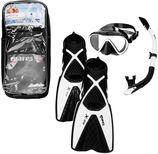 Mares Snorkelset duikbril, snorkel en zwemvliezen PMT X-One zwart/wit