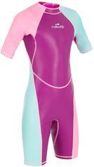 Nabaiji Zwemshorty voor meisjes Kloupi paars/roze