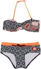 Zee & Zo zwart / oranje meisjes bikini Kai Kai black