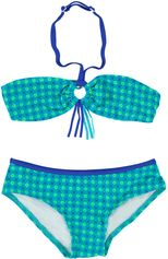 Zee & Zo blauw/groene bandeau bikini Maladiven