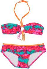 Zee & Zo multi color bandeau bikini Maladiven paint