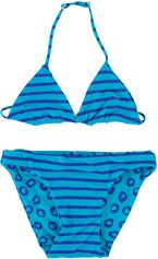 Zee & Zo blauwe reversible triangle bikini China blue