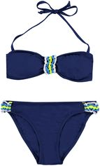 Boobs & Bloomers donkerblauwe bandeau meisjes bikini Jazzy