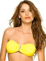 Strapless V-Bandeau Top Yellow