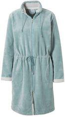 Vandyck fleece badjas met ritssluiting lichtgroen