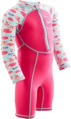Nabaiji Zwempakje met lange mouwen voor peuters print roze