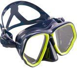 Subea Duikbril SCD 500 met twee glazen blauwe mantel en fluo rand
