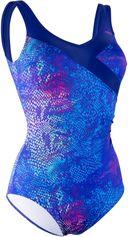 Nabaiji Corrigerend aquagym badpak voor dames Karli Snake blauw