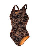 Speedo E10 Boom Allover Muscleback Zwart/Oranje