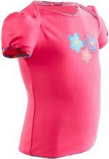 Nabaiji Tankinitop voor peuters, roze met bloemetjesprint