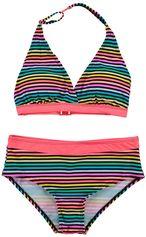 Boobs & Bloomers multi color halter meisje bikini stripe Janne